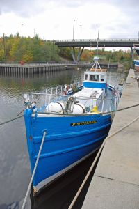 converted MFV Trawler houseboat live aboard bot for sale