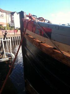 Planking repairs Scottish Zulu MFV herring drifter For sale