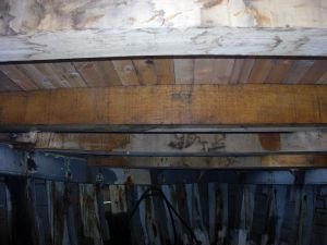Repairing deck and deck beams wooden fishing boat