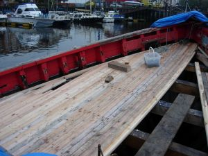 Motor Zulu Fifie trawler conversion wooden deck repairs