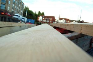 Oak beams for mfv conversion deck repairs