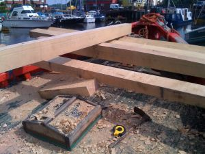 Oak deck beams for MFV conversion