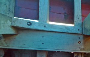 Trawler houseboat conversion deck beam and knee repair