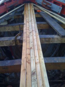 Scottish Zulu trawler deck repairs new planks