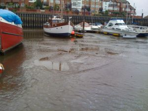Marina converted to mud berths for old trawlers