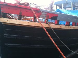 Wooden hull plan repairs on scottish Zulu herring drifter
