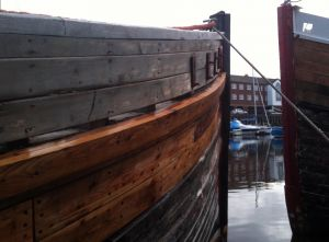 repairs to wooden hull planking trawler for sale
