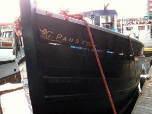 Wooden Boat Carved Nameboard MFV Zulu