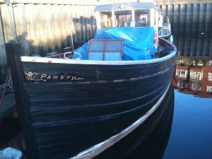 Scottish MFV for sale wooden hull painted