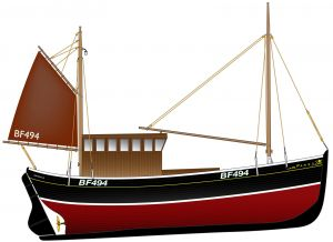 Trawler conversion plan - what this old fifie will look like when converted again