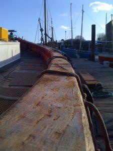 converted MFV trawler gunnels