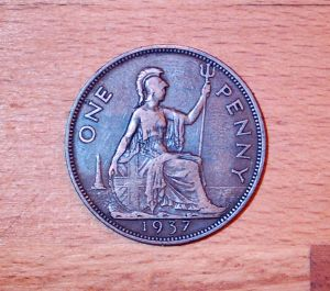 a lucky penny found in the bilges of an old scottish MFV